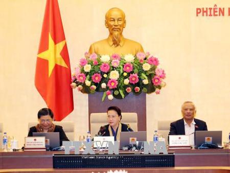 Phiên họp thứ 23 của Ủy ban Thường vụ Quốc hội.