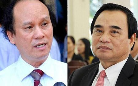 Hai cựu Chủ tịch UBND TP Đà Nẵng, ông Trần Văn Minh (ảnh trái) và Văn Hữu Chiến.