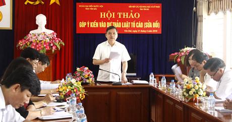 Đồng chí Dương Văn Thống phát biểu tại Hội nghị.