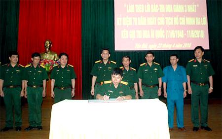 Các đơn vị ký kết giao ước thi đua.