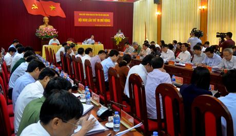 Hội nghị khai mạc sáng 23/4 tại Hội trường Tỉnh ủy Yên Bái.
