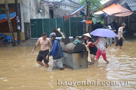Các điểm trũng trong thành phố cần đề phòng nước lớn gây ngập úng cục bộ.