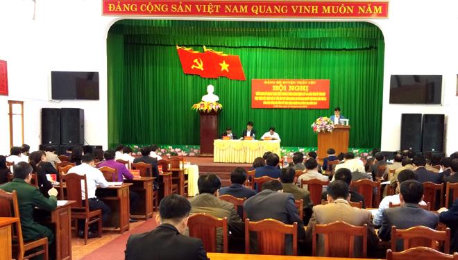 Đảng bộ huyện Trấn Yên triển khai hội nghị chủ chốt về chương trình hành động số 144 của tỉnh Yên Bái thực hiện kết luận 37 của BCH TW Đảng Khóa XII và nghị quyết Hội nghị BCH Đảng bộ lần thứ 22 về thực hiện nhiệm vụ của tỉnh năm 2019.