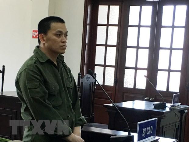 Bị cáo Hà Công Khánh tại phiên tòa.