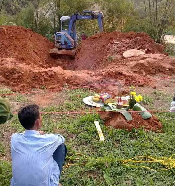 Nơi phát hiện xác chết được cho là chị Phạm Thị Hiền.