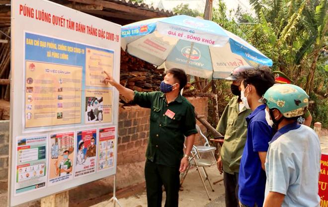 Công tác tuyên truyền phòng, chống dịch COVID-19 cho người dân luôn được xã Púng Luông, Mù Cang Chải đặc biệt chú trọng.