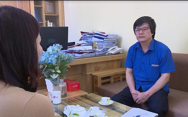 Phó Giám đốc Sở Công Thương Phạm Trung Lân trả lời phỏng vấn của phóng viên Báo Yên Bái.