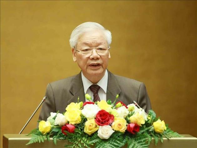 Chủ tịch nước Nguyễn Phú Trọng trình Quốc hội miễn nhiệm chức vụ Thủ tướng Chính phủ đối với ông Nguyễn Xuân Phúc.