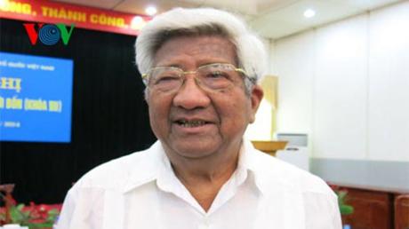 Ông Phạm Thế Duyệt, nguyên Uỷ viên Thường trực Bộ Chính trị, nguyên Chủ tịch Ủy ban Trung ương MTTQ Việt Nam.