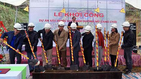 Khởi công xây dựng Khu nghỉ dưỡng Mù Cang Chải do Công ty cổ phần Phát triển xanh Thịnh Đạt làm chủ đầu tư.