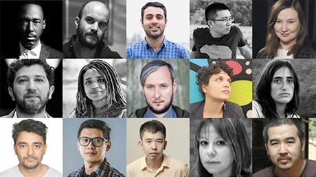 Đạo diễn Bùi Thạc Chuyên (hàng cuối, góc phải) - 1 trong 15 gương mặt được lựa chọn tham gia chương trình The Atelier