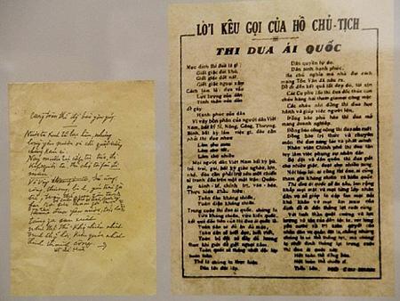 """Bút tích của Chủ tịch Hồ Chí Minh và bài báo """"Lời kêu gọi Thi đua ái quốc"""