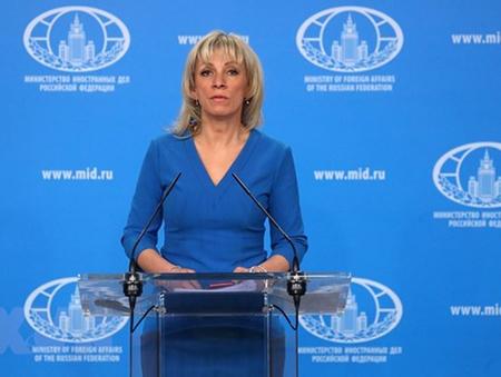 Người phát ngôn Bộ Ngoại giao Nga, bà Maria Zakharova.