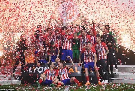 Atletico Madrid lần thứ 3 vô địch Europa League.