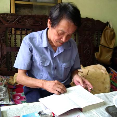 Dù tuổi đã cao nhưng đề tài về Bác Hồ vẫn được nhà văn Hoàng Việt Quân tiếp tục thực hiện.