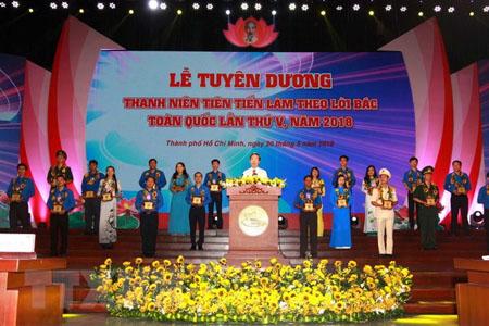 Trưởng Ban Tuyên giáo Trung ương Võ Văn Thưởng phát biểu tại Lễ tuyên dương.