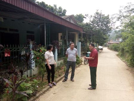 Đường giao thông nông thôn ở Việt Cường đã đáp ứng cho nhu cầu phát triển.
