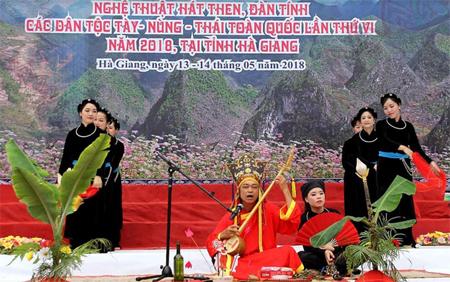 Các tiết mục tham gia của các đoàn nhằm tôn vinh những giá trị văn hóa truyền thống tốt đẹp của các dân tộc Tày, Nùng, Thái.
