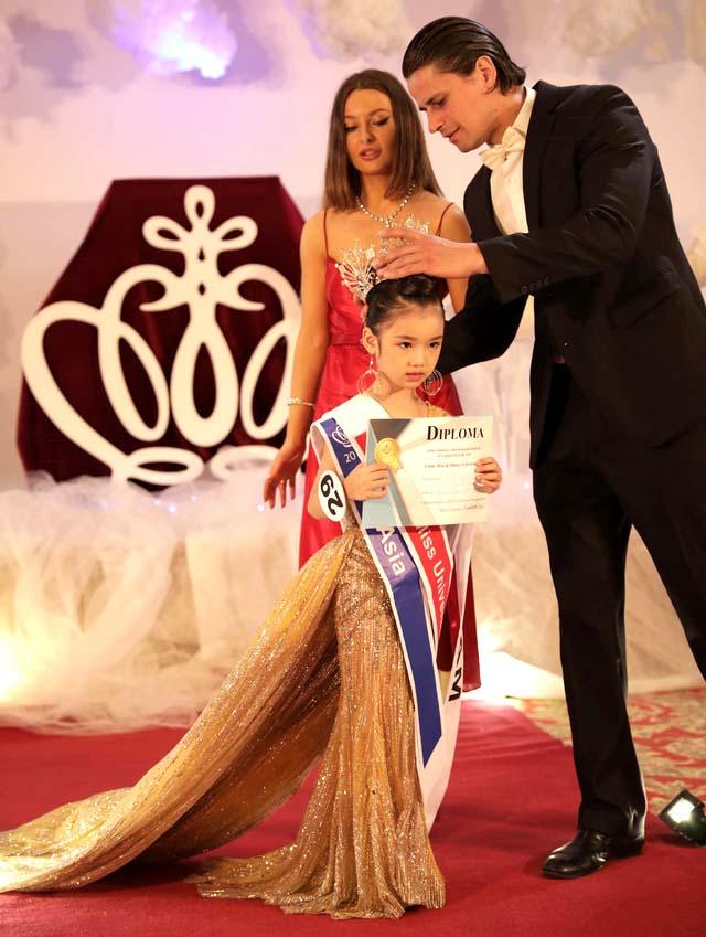 Thí sinh nhí Nguyễn Ngọc Bảo Anh đăng quang Hoa hậu Hoàn vũ nhí Thế giới 2019