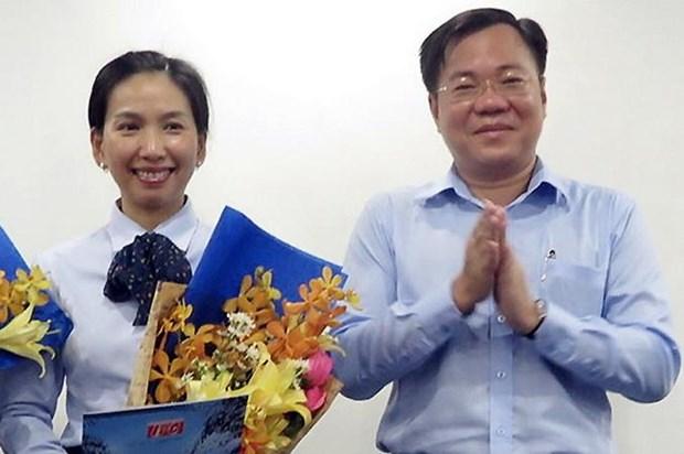 Bà Hồ Thị Thanh Phúc (trái) và Tề Trí Dũng hồi năm 2017.