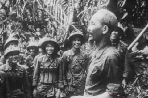 """Hình ảnh trong bộ phim """"Hồ Chí Minh: Phác họa chân dung một chính khách""""."""