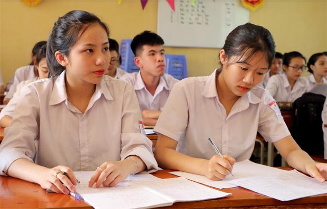 Các trường THPT trong toàn tỉnh đang tăng tốc ôn luyện cho học sinh tham gia kỳ thi tốt nghiệp THPT quốc gia năm 2019. (Ảnh: Thanh Chi)