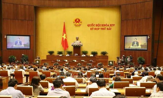 Ủy viên Ủy ban Thường vụ Quốc hội, Chủ nhiệm Ủy ban Tài chính, Ngân sách của Quốc hội Nguyễn Đức Hải trình bày Báo cáo giải trình, tiếp thu, chỉnh lý dự án Luật Quản lý thuế (sửa đổi).