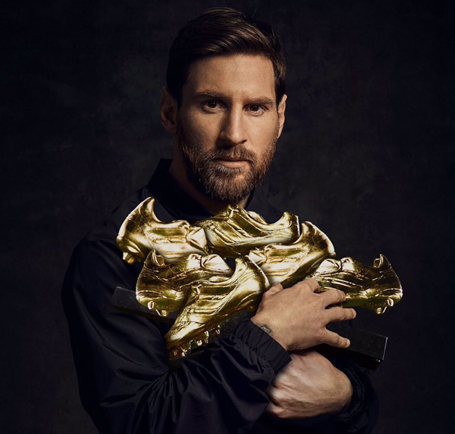 Messi lần thứ 6 giành Chiếc giày vàng châu Âu