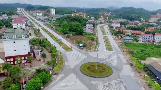 Một góc trung tâm thành phố Yên Bái hôm nay