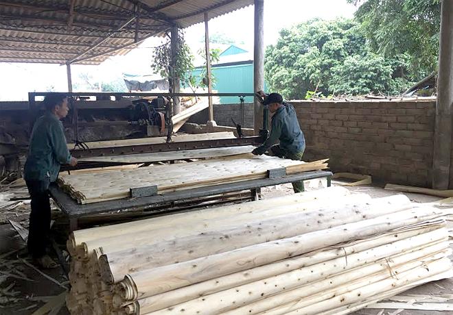 Sản xuất gỗ ép đang được các DNVVN tỉnh Yên Bái phát huy thế mạnh.