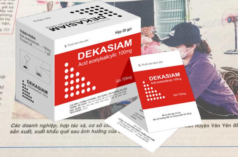 Dược phẩm Sao Kim sản xuất thuốc Dekasiam không đạt tiêu chuẩn chất lượng.