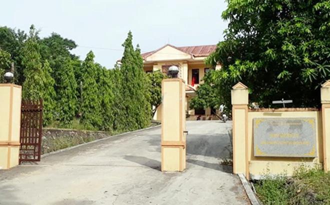 Trụ sở Ban Quản lý rừng phòng hộ huyện Quảng Ninh nơi ông Tấn công tác.