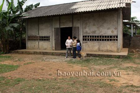 Nhà văn hóa thôn Khá Thượng 1, xã Thanh Lương chưa đạt chuẩn theo tiêu chí nông thôn mới.