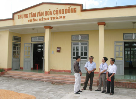 11 hộ dân thôn Minh Thành (xã Tuy Lộc, thành phố Yên Bái) đã hiến hơn 1.500m2 để xây dựng nhà văn hóa thôn khang trang, rộng rãi.