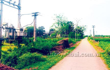 Đường làng, ngõ xóm ở xã Báo Đáp ngày càng sạch đẹp hơn.