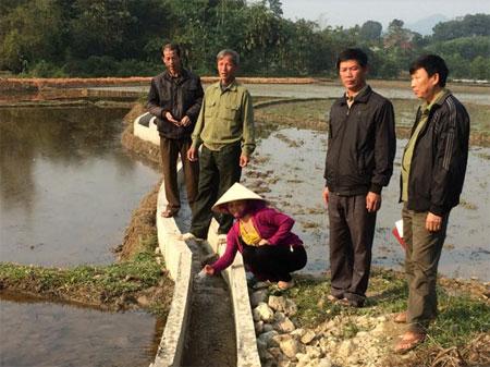 Mương dẫn nước của thôn Đồng Hạ, xã Vân Hội được Dự án đầu tư xây dựng đã đảm bảo nước tưới tiêu cho sản xuất.