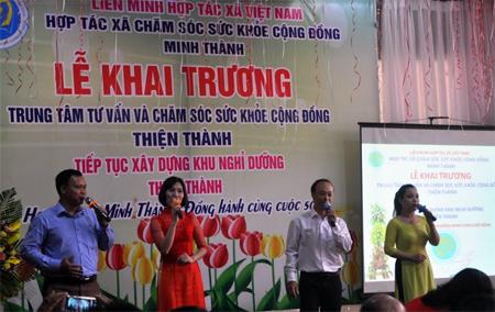 lễ khai trương Trung tâm Tư vấn và chăm sóc sức khỏe cộng đồng Thiện Thành.