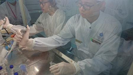 Không gian nghiên cứu tại Viện Tế bào gốc.