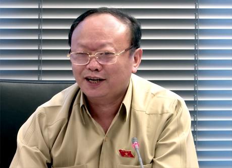 Đại biểu Giàng A Chu phát biểu thảo luận.