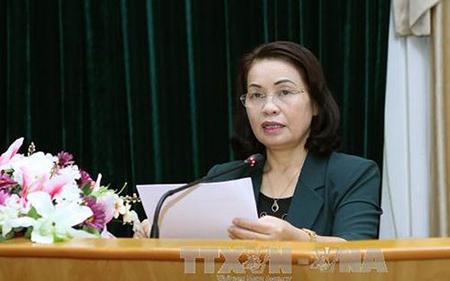 Phó Chủ tịch Ủy ban Trung ương MTTQ Việt Nam Bùi Thị Thanh.