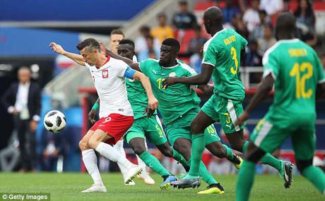 Lewandowski đã không thể ghi được bàn trước Senegal.