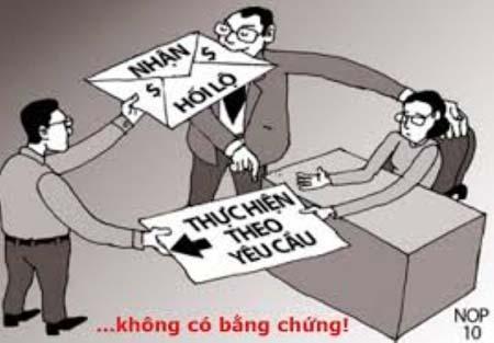 Một tác phẩm tranh biếm họa về chủ đề phòng chống tham nhũng.