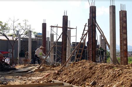Trạm Y tế xã Sơn A phấn đấu hoàn thành trong năm 2018. (Ảnh: Đ.V)