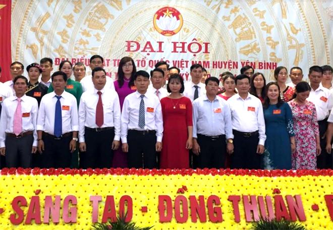 Ủy ban MTTQ huyện Yên Bình nhiệm kỳ 2019 - 2024 ra mắt Đại hội.