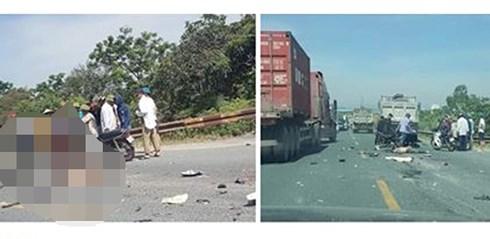 Hiện trường vụ tai nạn khiến 2 nam thanh niên chết thảm