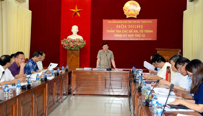 Ban Kinh tế HĐND tỉnh tiến hành thẩm tra các dự thảo tờ trình và dự thảo nghị quyết tại kỳ họp.