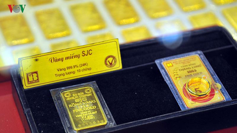 Giá vàng SJC cuối phiên 19/6 giảm mạnh ở chiều bán ra.