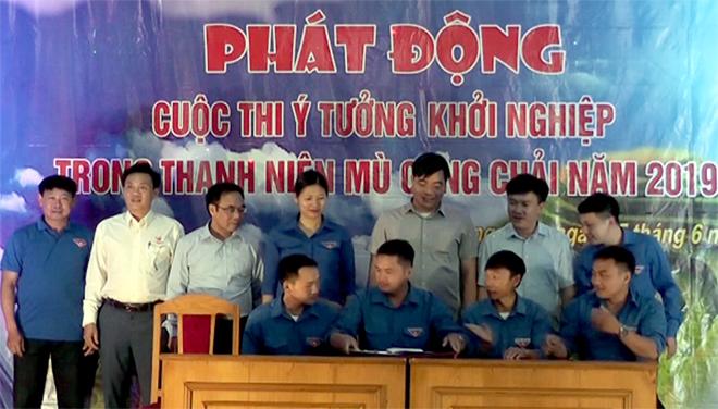 Bí thư Đoàn các xã, thị trấn ký kết hưởng ứng cuộc thi