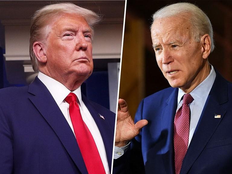 Đương kim Tổng thống Donald Trump và ứng viên tranh cử Tổng thống đảng Dân chủ Joe Biden.