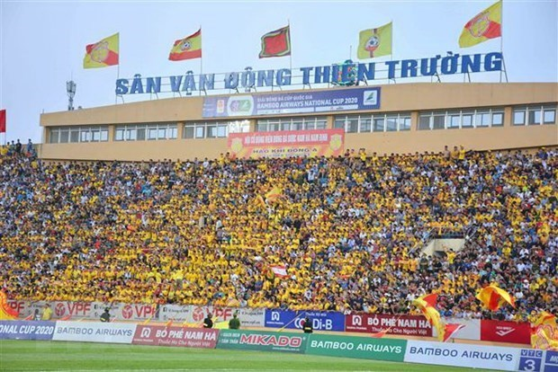 At the Thien Truong Stadium in Nam Dinh province.